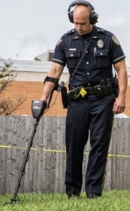 Polizei Metalldetektor Einsatz