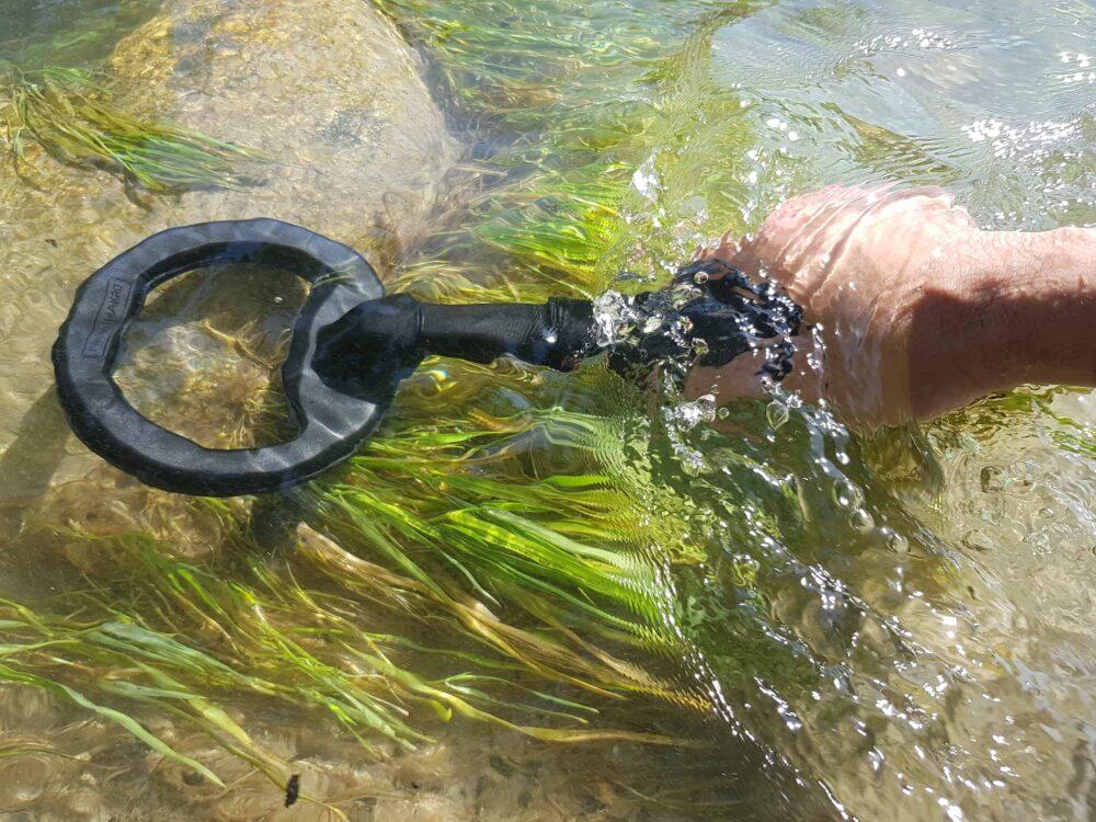 Spule rund im Wasser Metalldetektor Pi 3kHz wasserdicht 60m Tauchtiefe Farbe schwarz